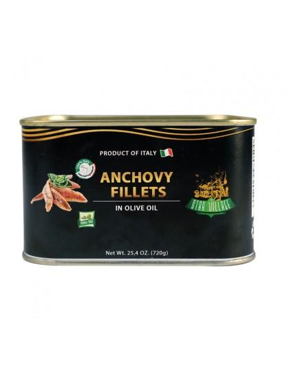 Star Village Anchovy Fillets 720gr Inter Buana Mandiri