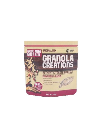 Mini Granola Creations Cinnamon & Raisin Inter Buana Mandiri