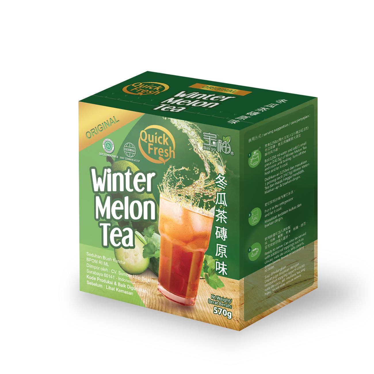 Quick Fresh Winter Melon Tea Original Box 570g Inter Buana Mandiri