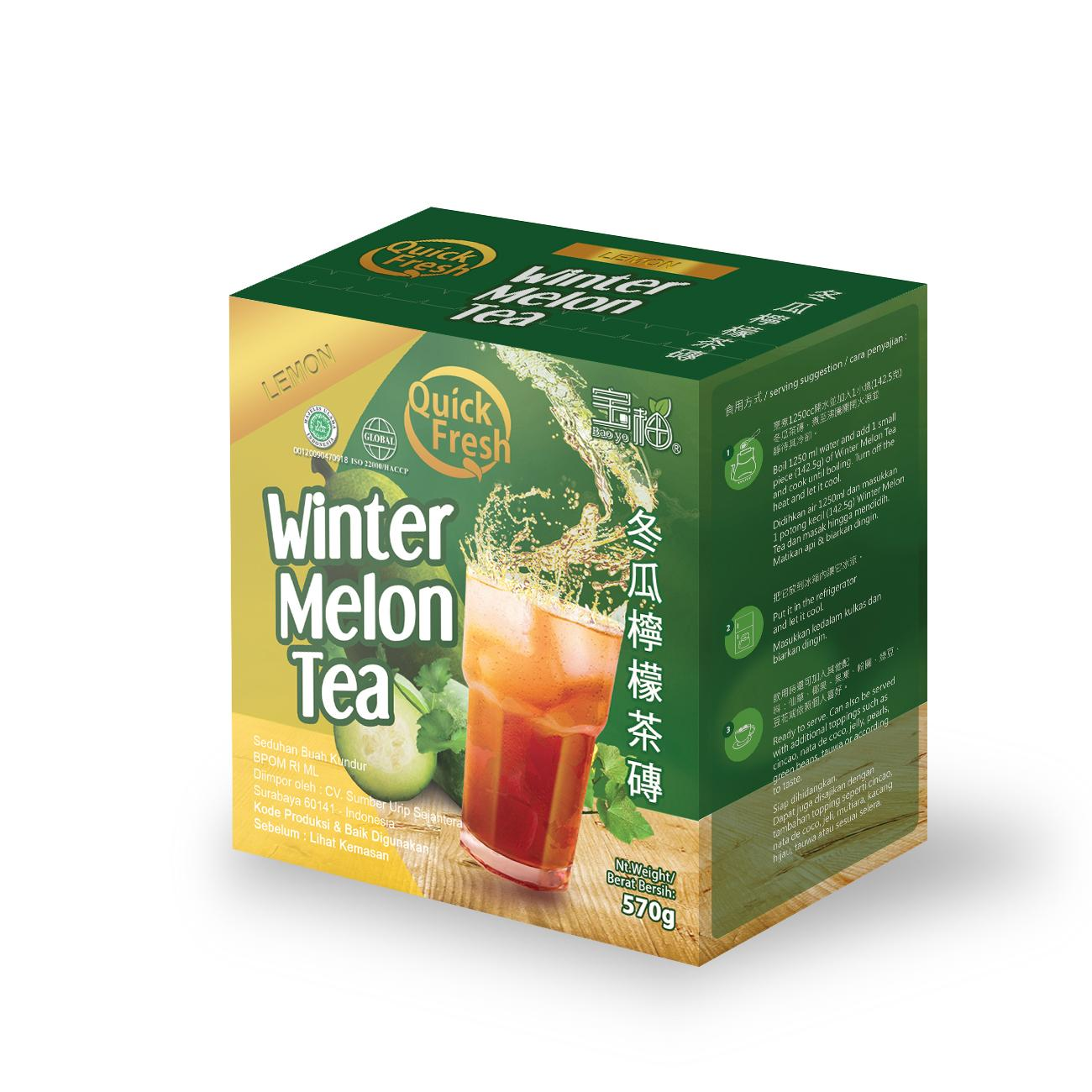 Quick Fresh Winter Melon Tea Lemon Box 570 gr Inter Buana Mandiri